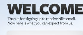 ley Despedida Apretar  Thanks for signing up and welcome to Nike email.